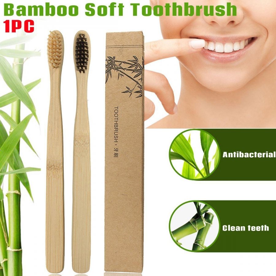 Bamboo Toothbrush-Pack of 6(Adult)