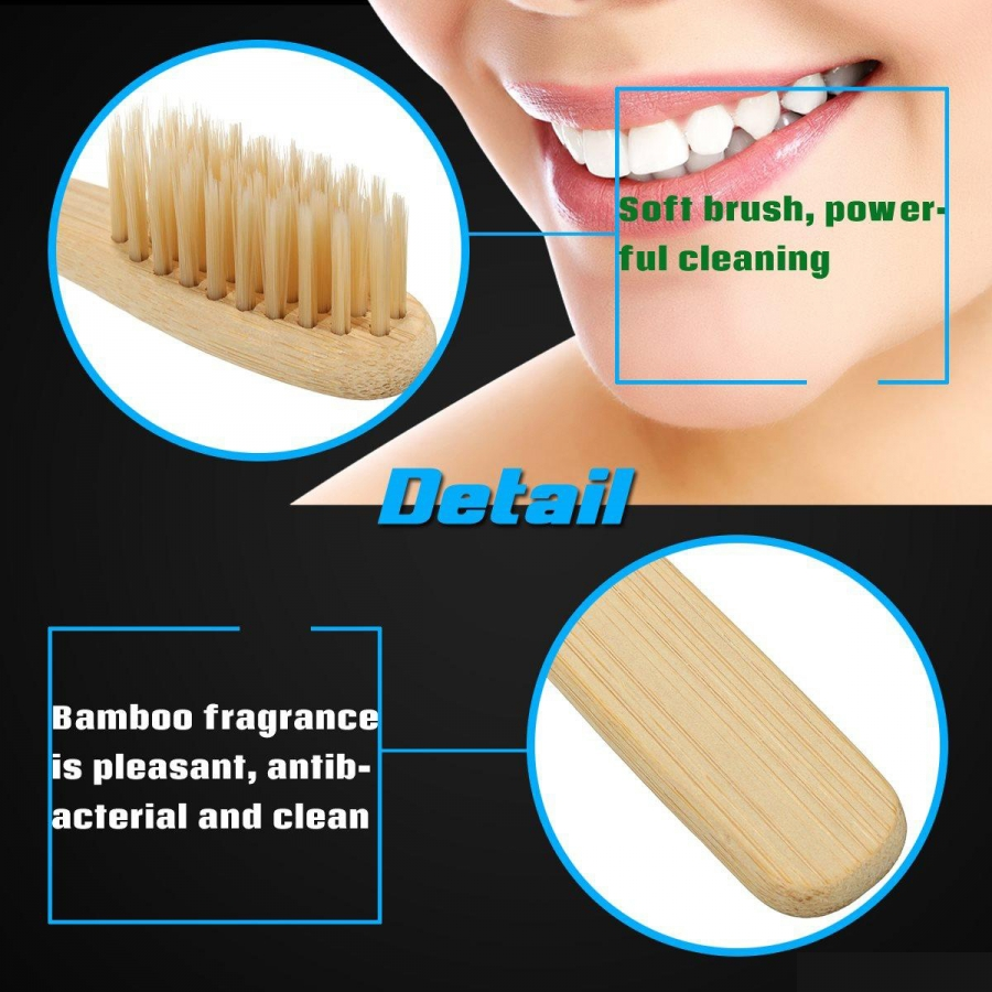Bamboo Toothbrush - Pack of 25 - Large (Adult)